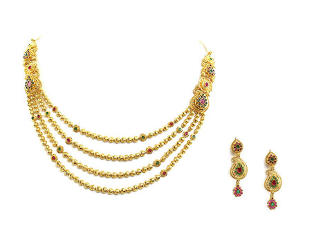 52.25g 22Kt Gold Antique Necklace Set
