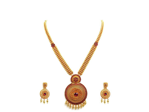 68.60g 22Kt Gold Antique Necklace Set