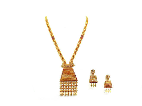 65.00g 22Kt Gold Antique Necklace Set