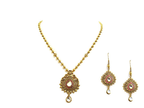 28.25g 22Kt Gold Antique Necklace Set