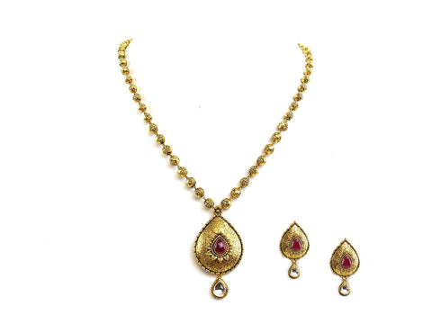 27.05g 22Kt Gold Antique Necklace Set