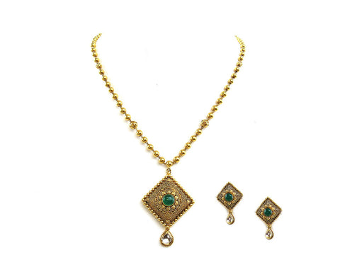 27.00g 22Kt Gold Antique Necklace Set