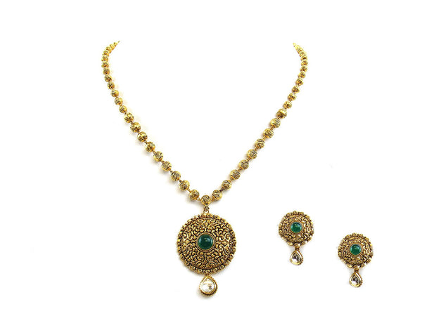 27.90g 22Kt Gold Antique Necklace Set