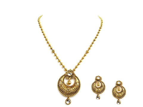 30.40g 22Kt Gold Antique Necklace Set