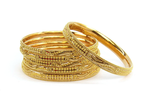 94.30g 22Kt Gold Stackable Bangle Set (Sz: 8)
