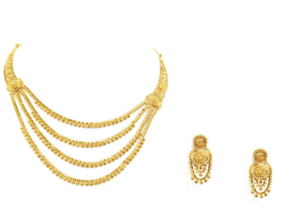 44.60g 22Kt Gold Yellow Necklace Set