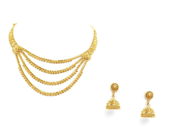 45.80g 22Kt Gold Yellow Necklace Set