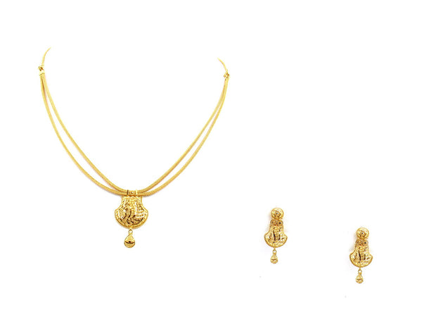 24.80g 22Kt Gold Yellow Necklace Set