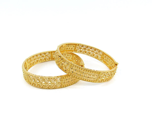 48.20g 22Kt Gold Yellow Bangle Set (Sz: 5)