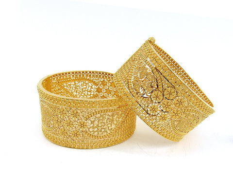 106.10g 22Kt Gold Yellow Bangle Set (Sz: 5)