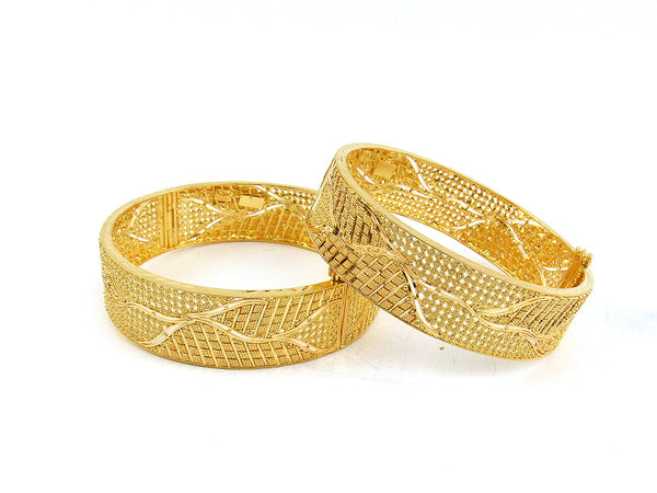 57.90g 22Kt Gold Yellow Bangle Set (Sz: 5)