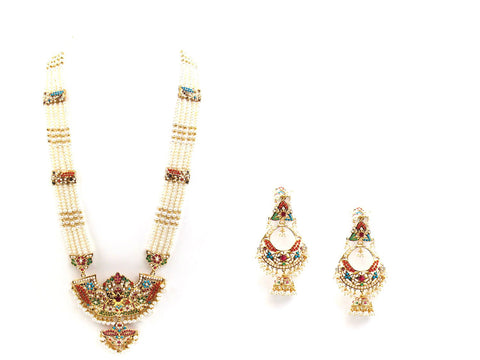 123.60g 22Kt Gold Jarou Necklace Set