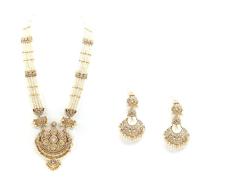 125.90g 22Kt Gold Jarou Necklace Set
