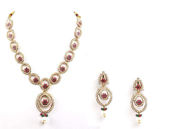 39.00g 22Kt Gold Jarou Necklace Set