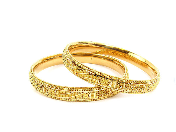 38.40g 22Kt Gold Stackable Bangle Set (Sz: 5)