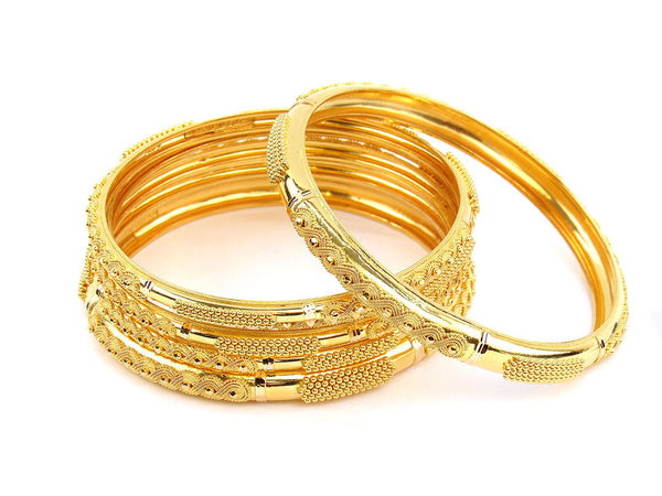 87.50g 22Kt Gold Stackable Bangle Set (Sz: 10)