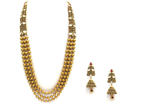 65.38g 22Kt Gold Antique Necklace Set