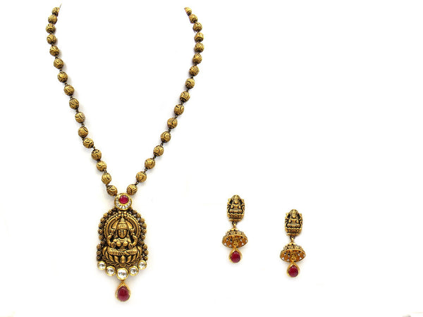 46.80g 22Kt Gold Antique Necklace Set - 1170