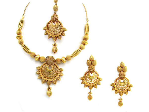 100.10g 22Kt Gold Antique Necklace Set - 1882