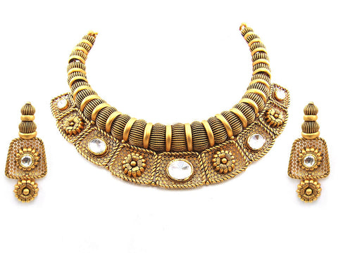 111.45g 22Kt Gold Antique Necklace Set - 2007