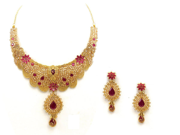 70.37g 22Kt Gold Antique Necklace Set - 2045