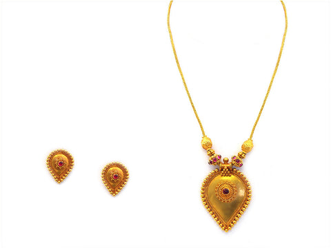 29.86g Antique Necklace Set India Jewellery
