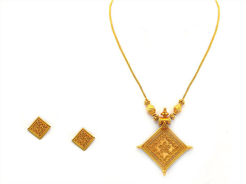 33.00g Antique Necklace Set India Jewellery