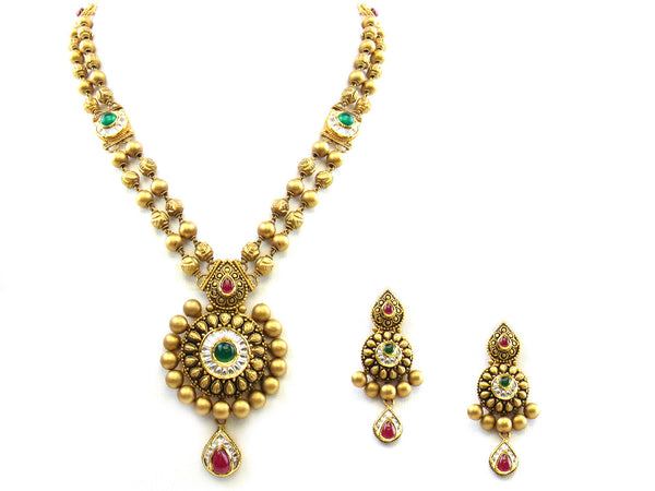 58.30g 22Kt Gold Antique Necklace Set - 247