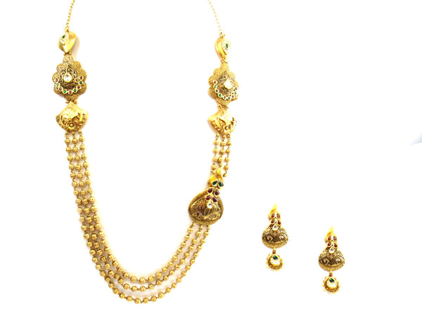91.35g 22kt Gold Antique Necklace Set - 249