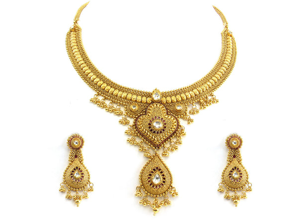 63.70g 22kt Gold Antique Necklace Set - 263