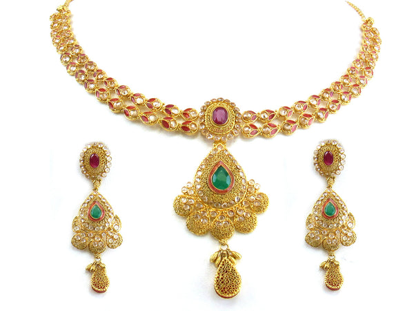 49.19g 22kt Gold Antique Necklace Set - 267