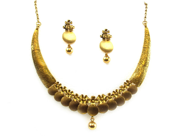 50.60g 22kt Gold Antique Necklace Set - 270
