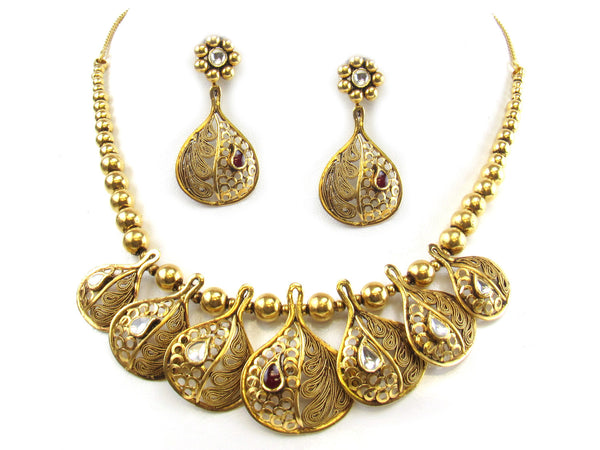 45.35g 22kt Gold Antique Necklace Set - 281