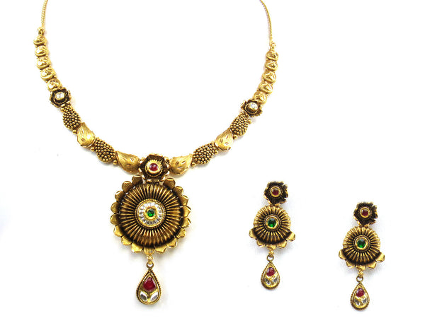 47.85g 22kt Gold Antique Necklace Set - 285