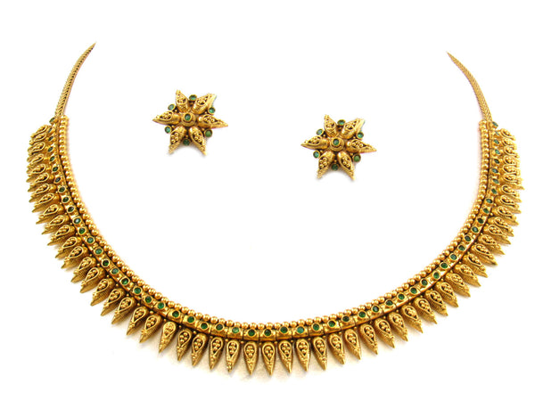 45.008g 22kt Gold Antique Necklace Set - 297