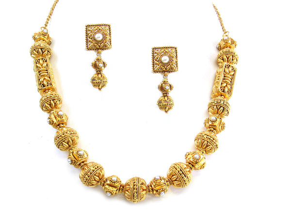 80.37g 22kt Gold Antique Necklace Set - 300