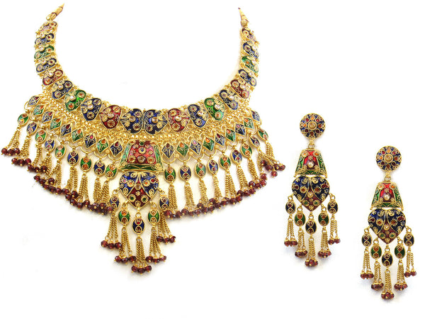 89.80g 22kt Gold Antique Necklace Set - 313