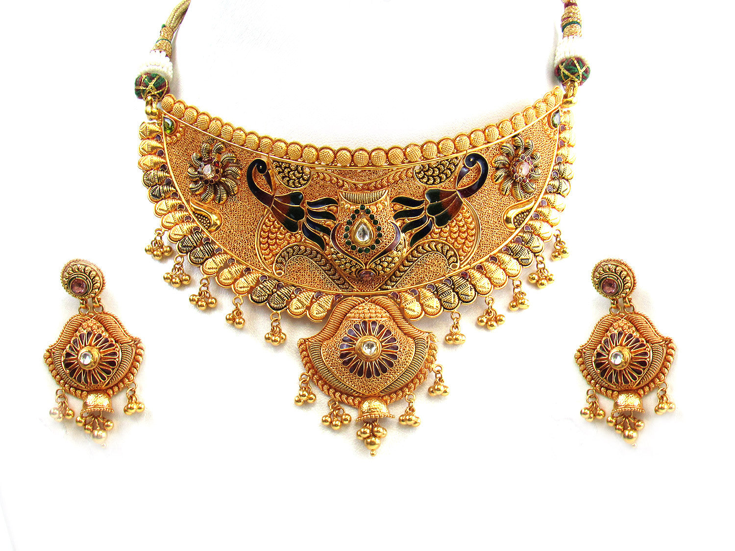 necklace american set gold diamond plated nareiki untitled product antique