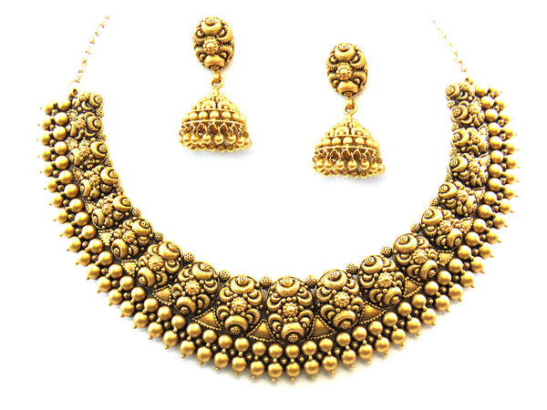 76.63g 22Kt Gold Antique Necklace Set - 350