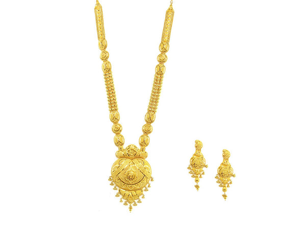 131.50g 22Kt Gold Haar Necklace Set - 1896
