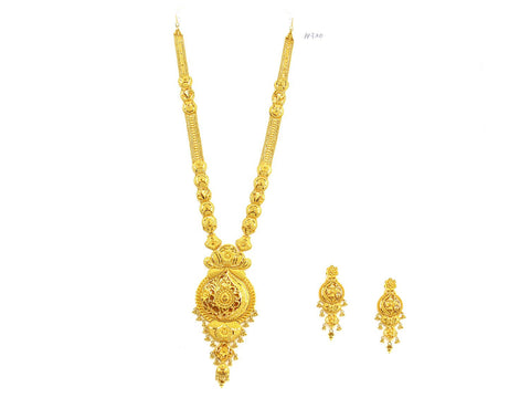 142.20g 22Kt Gold Haar Necklace Set