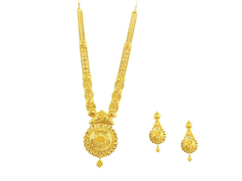 128.40g 22Kt Gold Haar Necklace Set