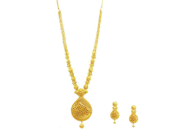 89.50g 22Kt Gold Haar Necklace Set - 1904