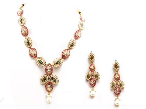 38.60g 22Kt Gold Jarou Necklace Set - 2062