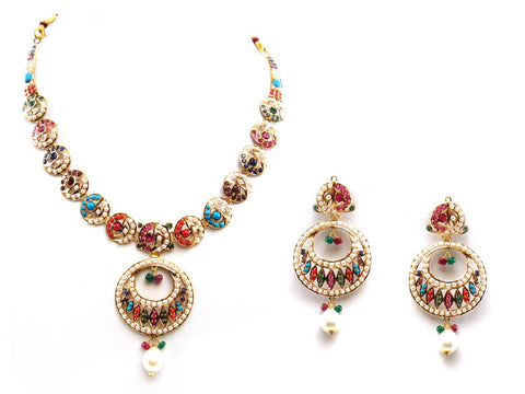41.70g 22Kt Gold Jarou Necklace Set - 2063