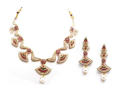 35.00g 22Kt Gold Jarou Necklace Set - 2065