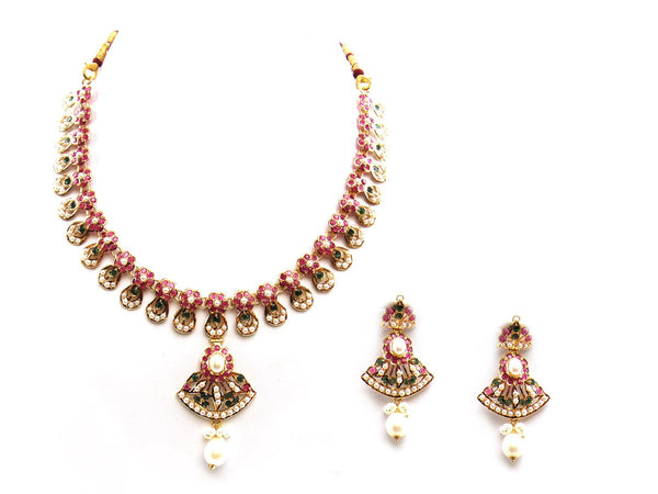 43.50g 22Kt Gold Jarou Necklace Set - 2066