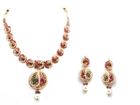 35.70g 22Kt Gold Jarou Necklace Set - 2069