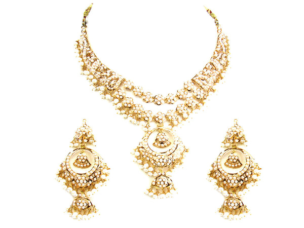 73.25g 22Kt Gold Jarou Necklace Set - 206