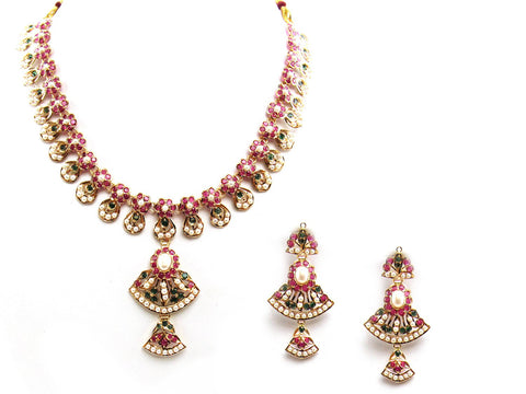 38.60g 22Kt Gold Jarou Necklace Set - 2070